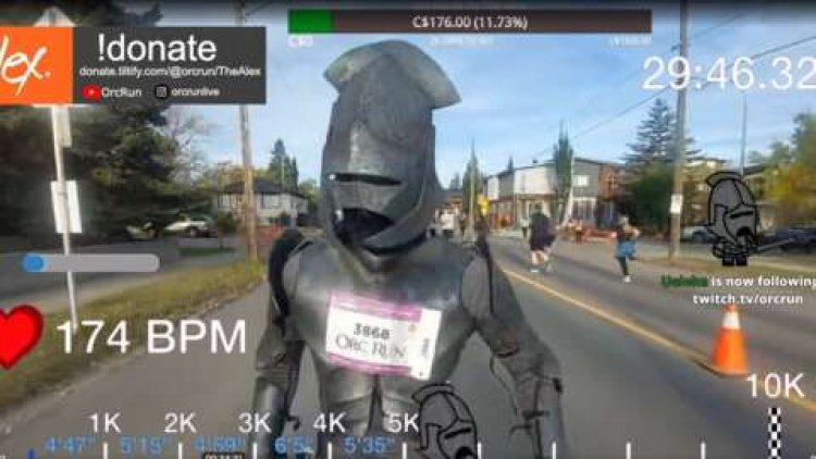 Watch Streamer Run A 10K In Lord Of The Rings Orc Armor