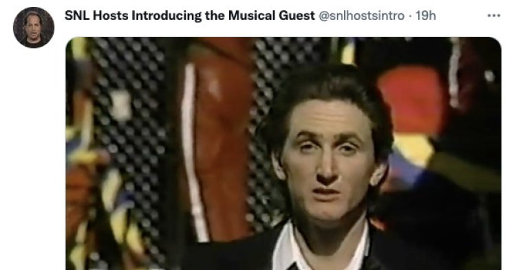 My new favorite Twitter account just posts classic clips of SNL hosts introducing the musical guest